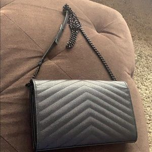 Authentic SAINT LAURENT Monogram leather  bag